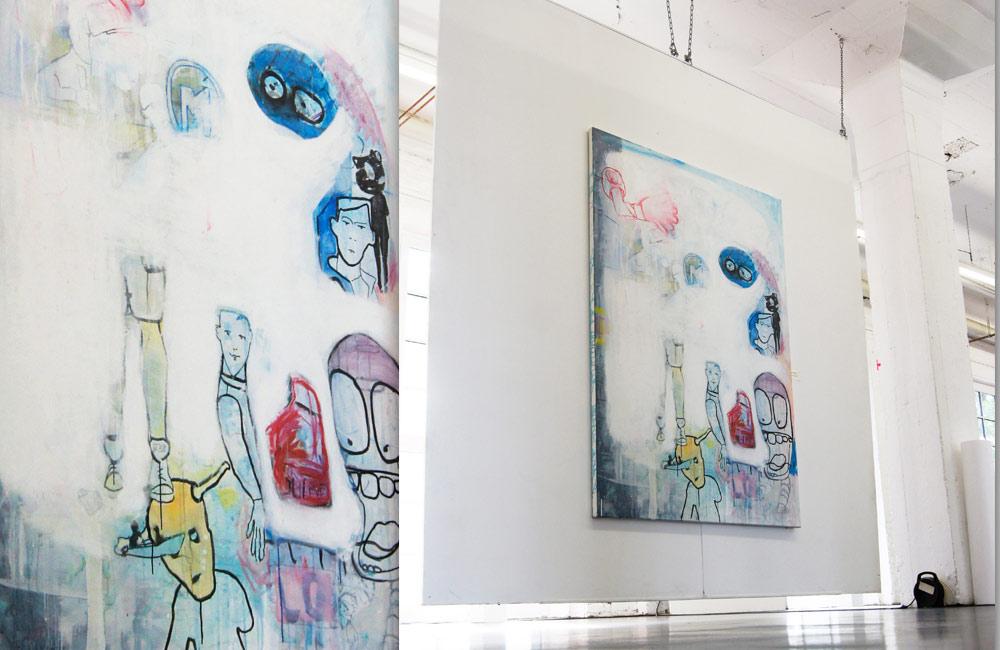 HEAT THE SOUL   Acrylic and chalk on canvas   145 x 195 cm   2011