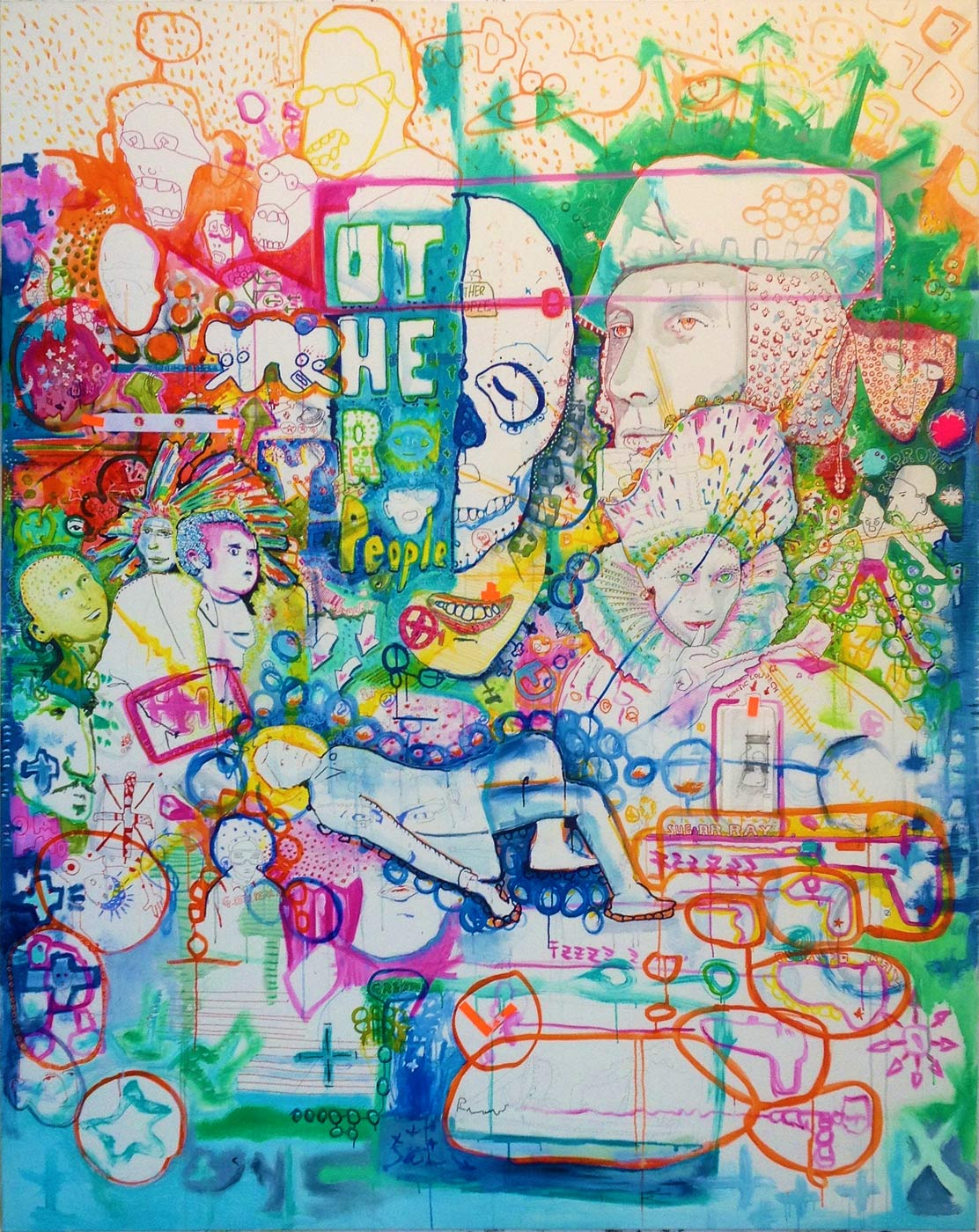 Love & Inspiration Ink and acrylic on canvas ca 250 x 200 cm | © Thomas Steffens 2014