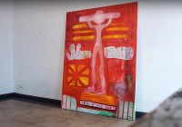 So here we are | Acrylic on canvas | Size 180 cm x 145 cm | 2010