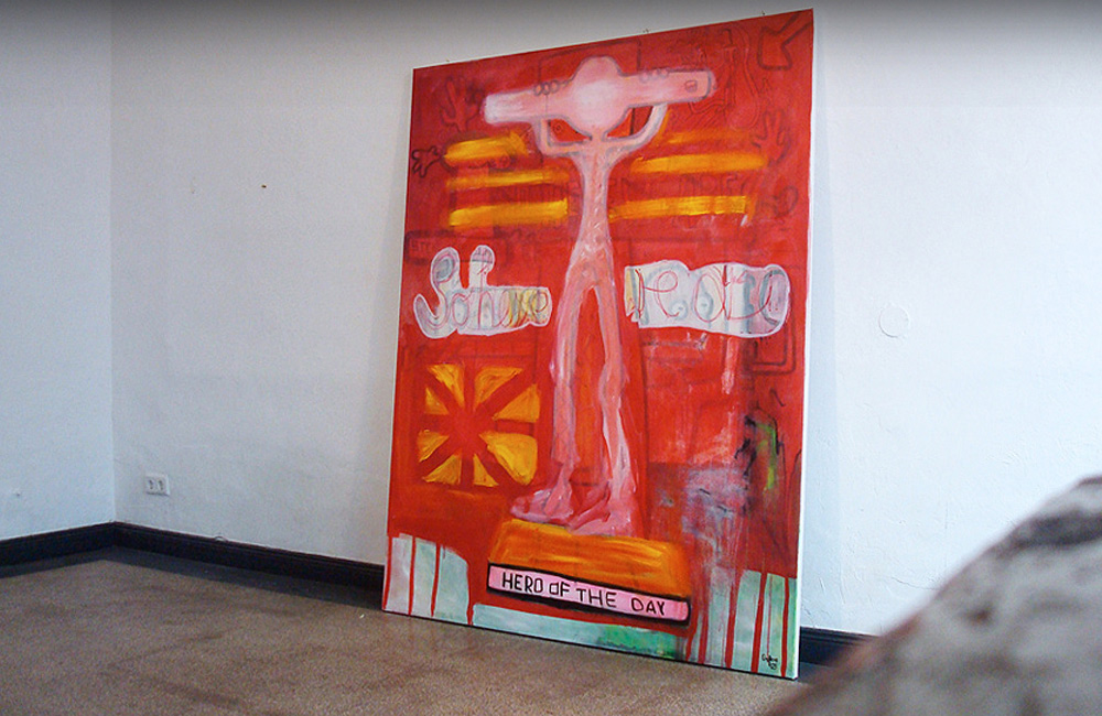 So here we are   Acrylic on canvas   Size 180 cm x 145 cm   2010