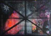"""Black Painting"" by Thomas Steffens - Acryl und Kreide auf Leinwand"