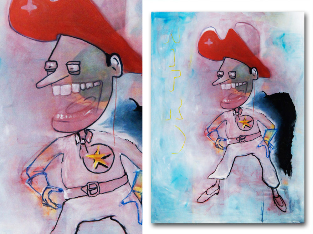 Thomas Steffens | NITRO | Acrylic on canvas | Size 195 cm x 145 cm | 2010