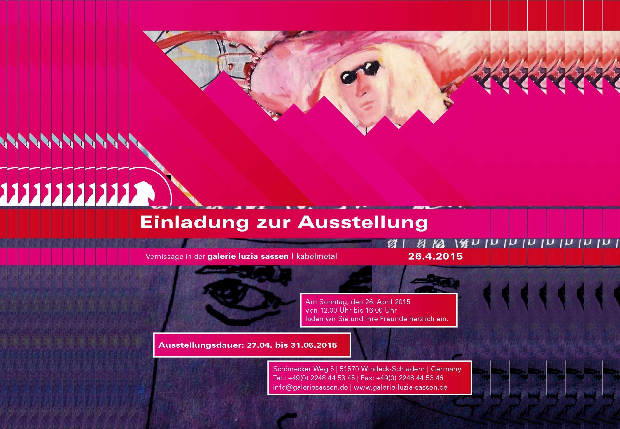 Ausstellung Galerie Luzia Sassen | Kabelmetall 2015 Thomas Steffens