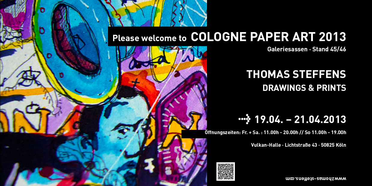 Thomas Steffens The Cologne Paper Art Show Invitation 2013